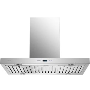 CAVALIERE SV218Z2-i36 Island Mounted Stainless Steel Kitchen Range Hood