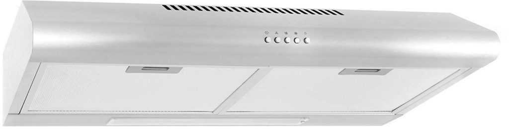 30-in Under-Cabinet Range Hood 200-CFM | Ducted/ Ductless Convertible Top/ Rear Duct, Slim Kitchen Stove Vent