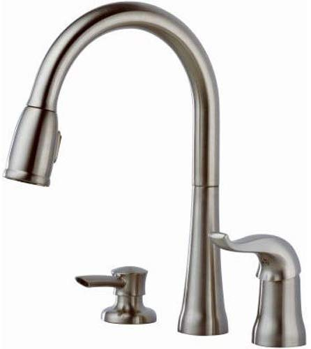 Delta Faucet Kate Single-Handle Kitchen Sink Faucet Stainless 16970-SSSD-DST