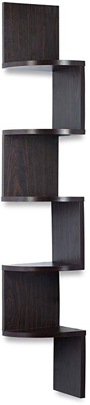 Corner shelf - Espresso Finish corner shelf unit