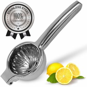 Lemon Squeezer Stainless Steel with Premium Quality Heavy Duty Solid Metal Squeezer Bowl