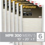 Filtrete 10x20x1, AC Furnace Air Filter, MPR 300, Clean Living Basic Dust