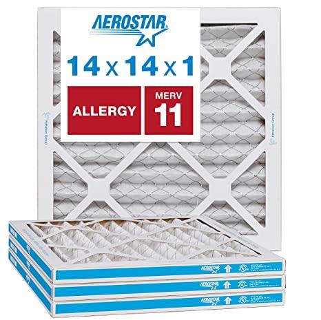 Aerostar - 14x14x1 MERV 11 4-Pack Allergen