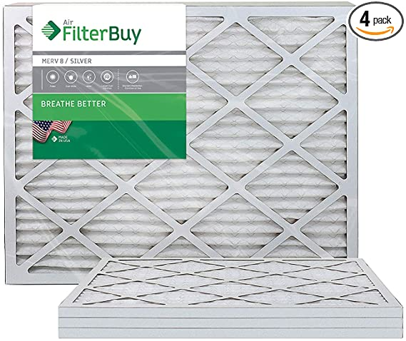 FilterBuy 16x24x1 MERV 8 Pleated AC Furnace Air Filter