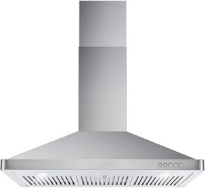 Cosmo 63190 36 in. Wall Mount Range Hood with Ductless Convertible Duct