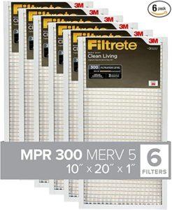 Filtrete 10x20x1, AC Furnace Air Filter, MPR 300