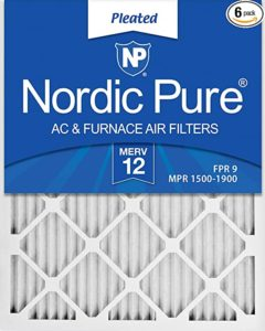 Nordic Pure 20x25x1 MERV 12 Pleated AC Furnace Air Filters